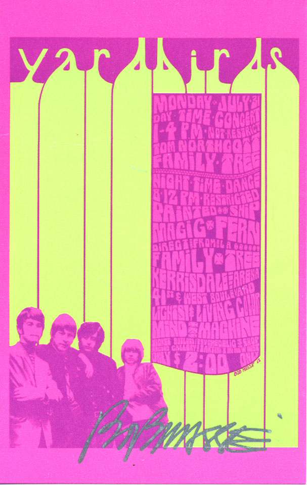 Yardbirds Handbill