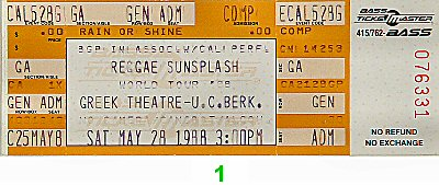Yellowman 1980s Ticket
