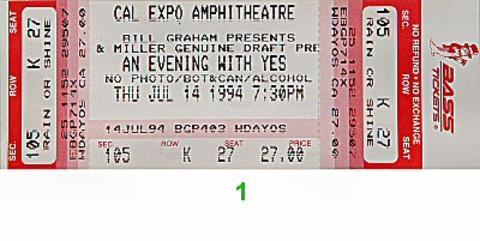 Yes Vintage Ticket