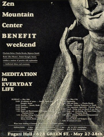 Zen Mountain Center Benefit Poster