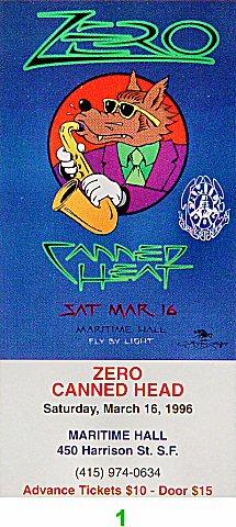 Zero1990s Ticket