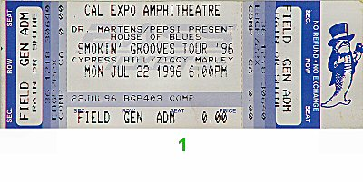 Ziggy Marley & the Melody Makers 1990s Ticket