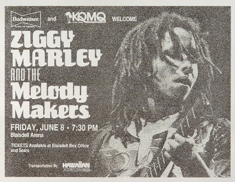 Ziggy Marley & the Melody Makers Handbill