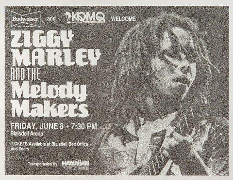 Ziggy Marley &amp; the Melody Makers Handbill