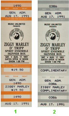 Ziggy Marley1990s Ticket