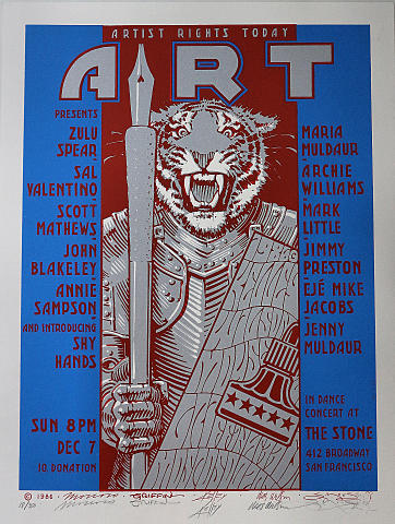 Zulu Spear Serigraph