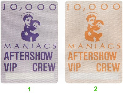 10,000 Maniacs Backstage Pass