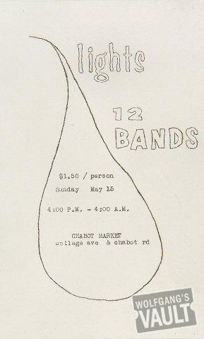 12 Bands at the Chabot Market Handbill