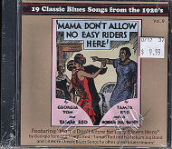 19 Classic Blues Songs from the 1920's CD