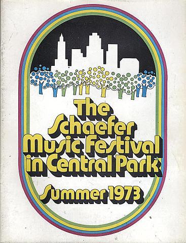 1973 Schaefer Music Festival Program
