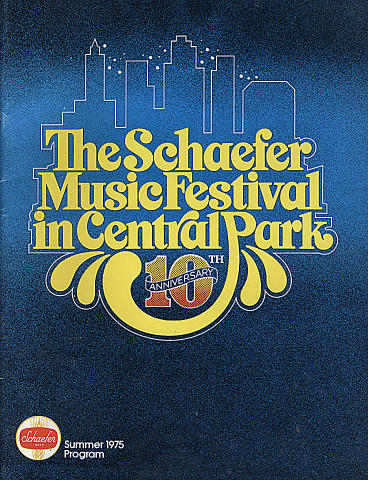 1975 Schaefer Music Festival Program