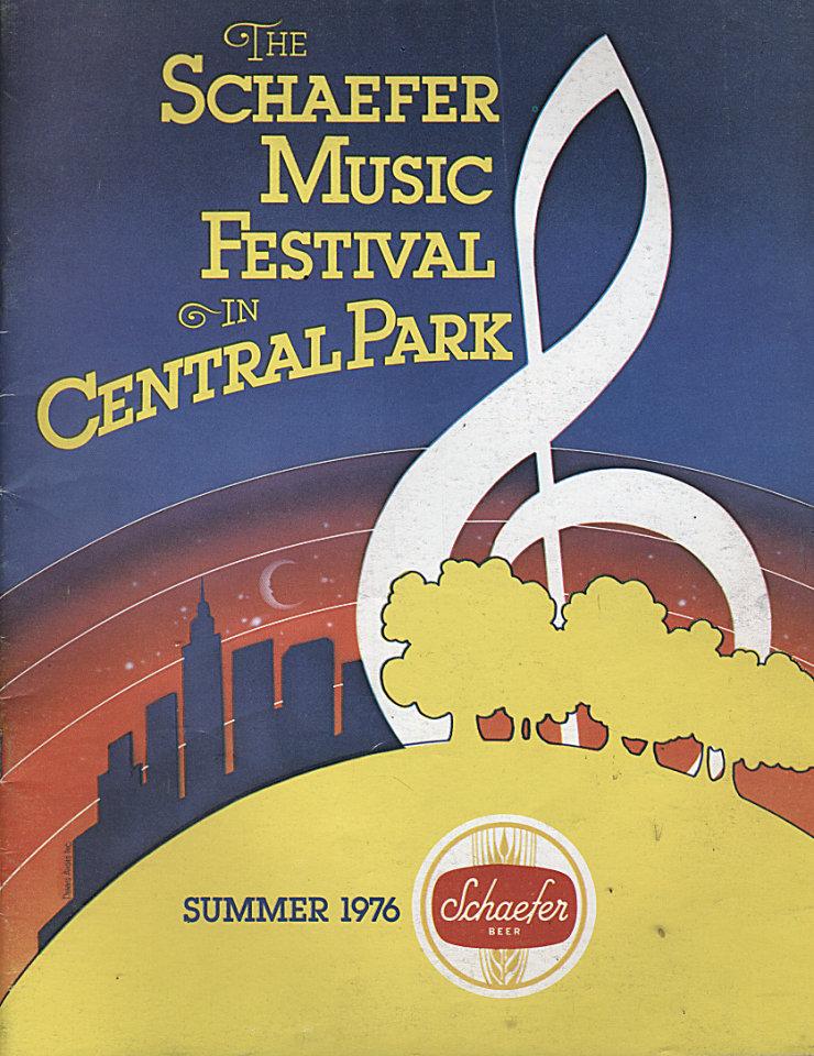 1976 Schaefer Music Festival Program