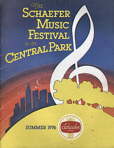 1976 Schaefer Music Festival Program