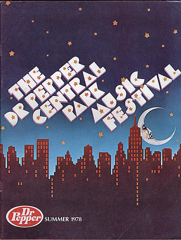 1978 Dr. Pepper Central Park Music Festival Program
