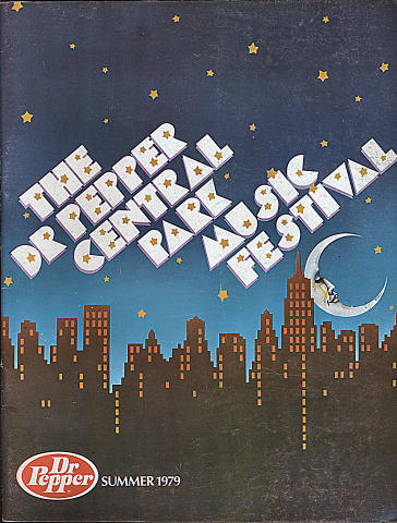 1979 Dr. Pepper Central Park Music Festival Program