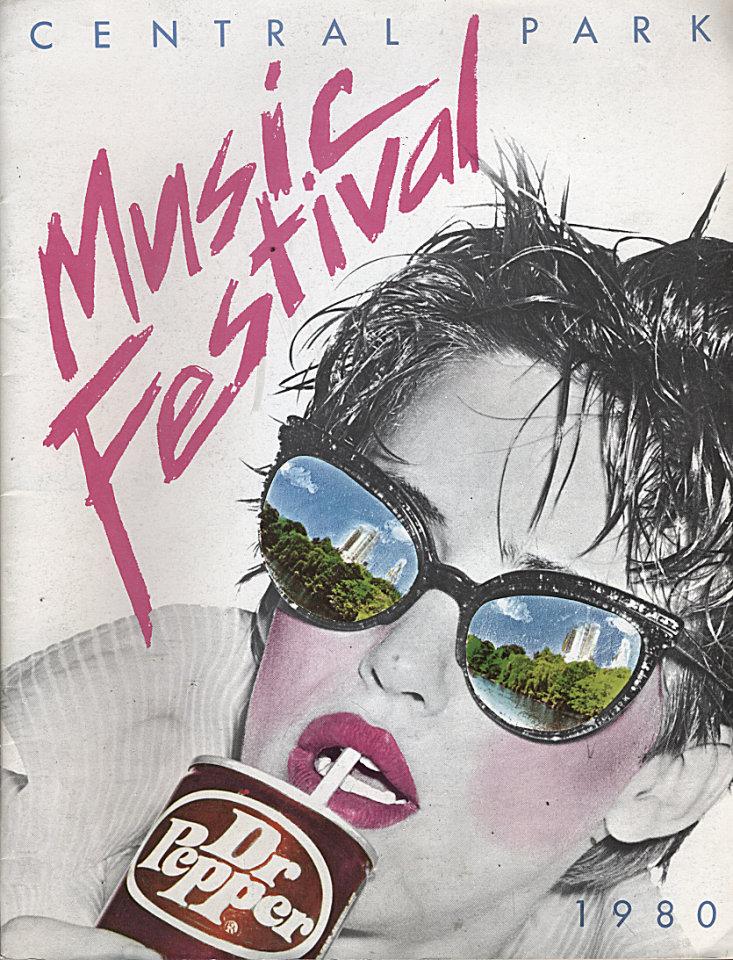 1980 Dr. Pepper Central Park Music Festival Program