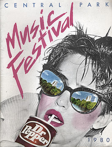 1980 Dr. Pepper Central Park Music Festival Program