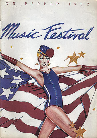 1982 Dr. Pepper Music Festival Program