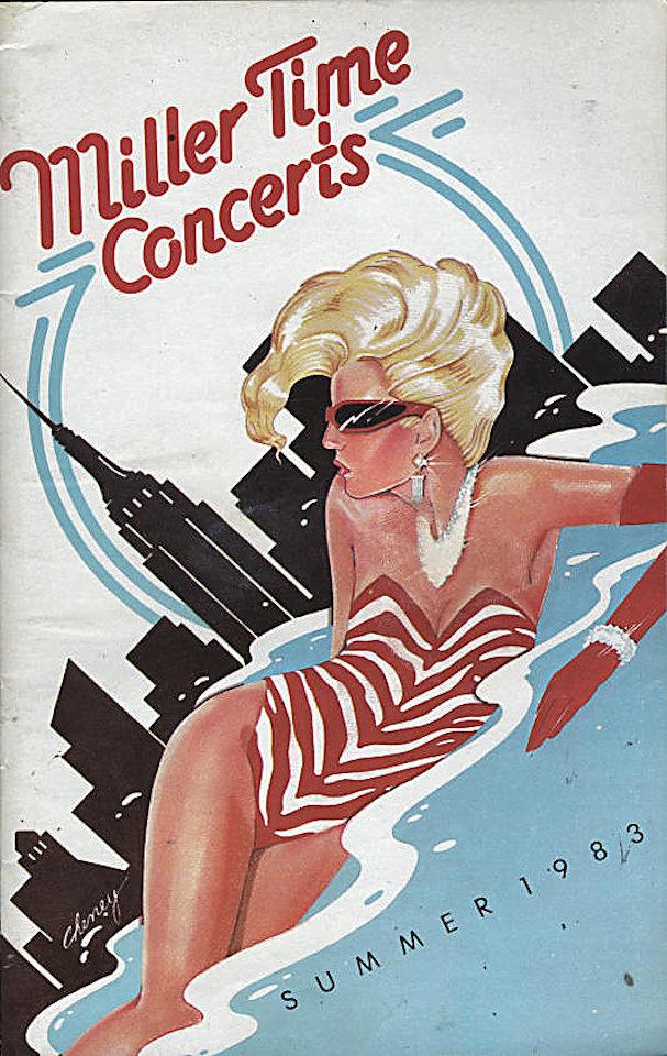 1983 Miller Time Concerts Program