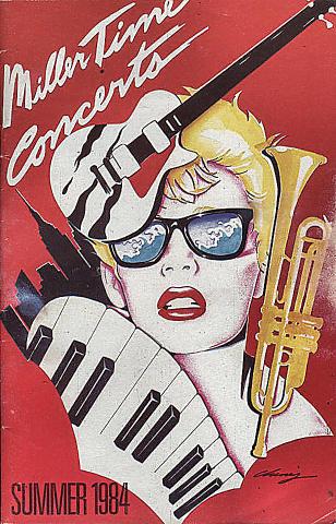 1984 Miller Time Concerts Program