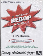 20 Authentic Bebop Jazz Solos Book