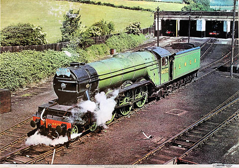4472 Flying Scotsman L.N.E.R. Class A3 4-6-2 Poster