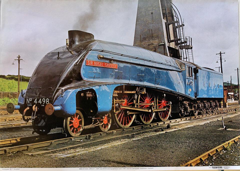 4496 Sir Nigel Gresley, LNER Class A4 4-6-2 Poster