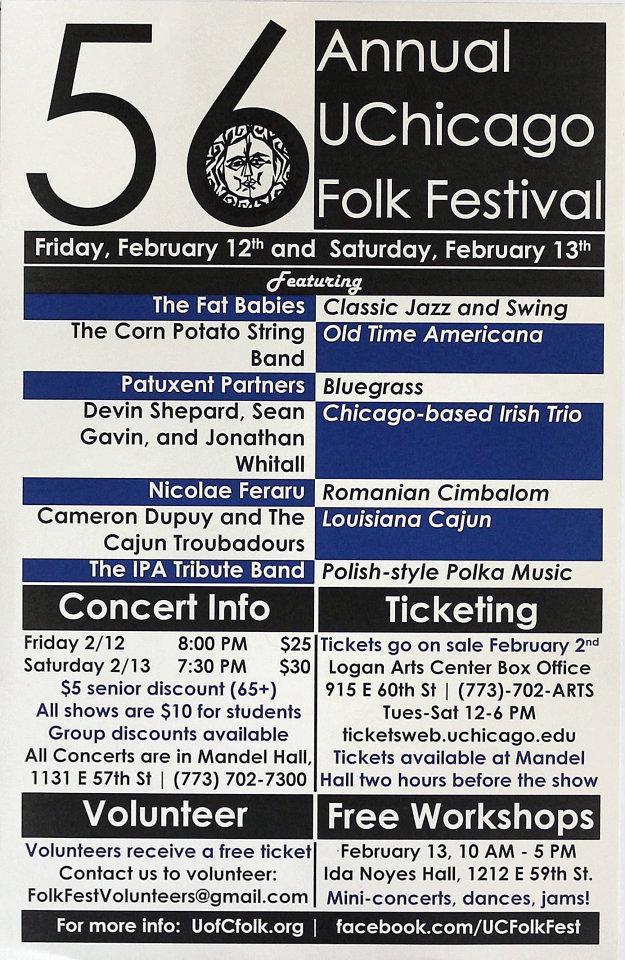 56th Annual UChicago Folk Festival Poster