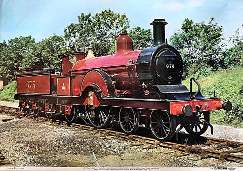 673 Midland Railway 4-2-2 Poster