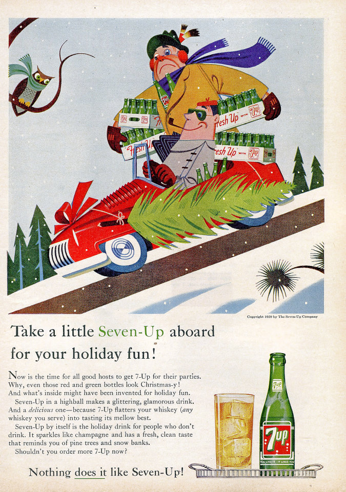 7-Up: Nothing Does It Like Seven-Up! Vintage Ad