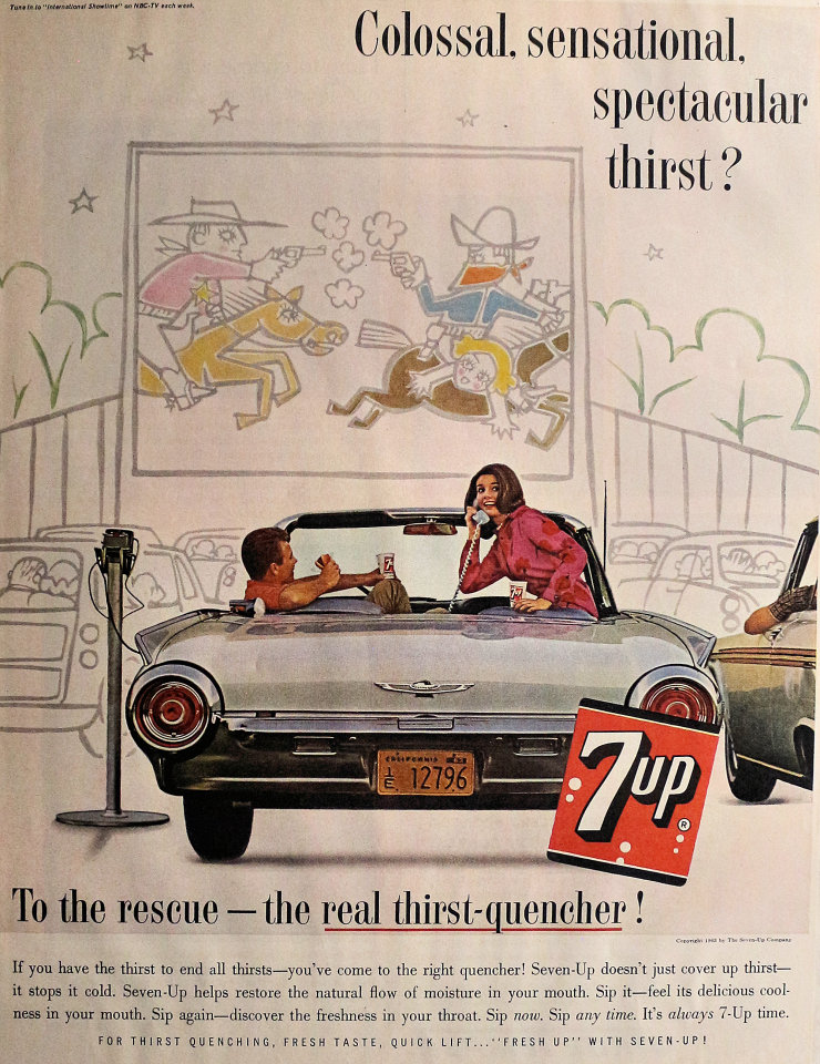 7up: Colossal, Sensational, Spectacular Thirst? Vintage Ad