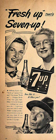 "7up: ""Fresh Up"" That's Seven-Up! Vintage Ad"