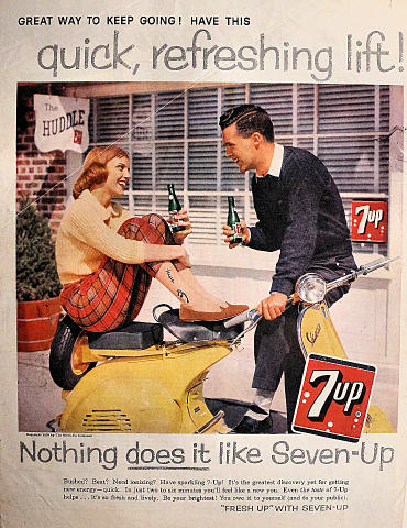 7up: Great Way To Keep Going! Vintage Ad