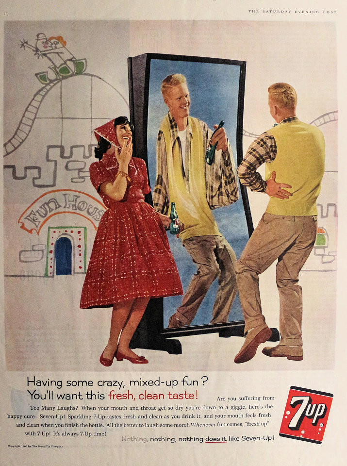 7up: Having Some Crazy, Mixed-up Fun? Vintage Ad