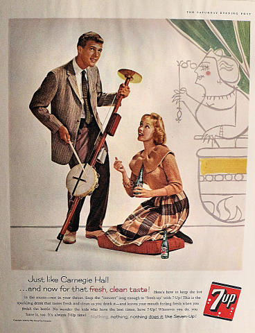 7up: Just Like Carnegie Hall Vintage Ad
