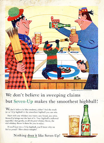 7up: Nothing Does It Like Seven-Up! Vintage Ad