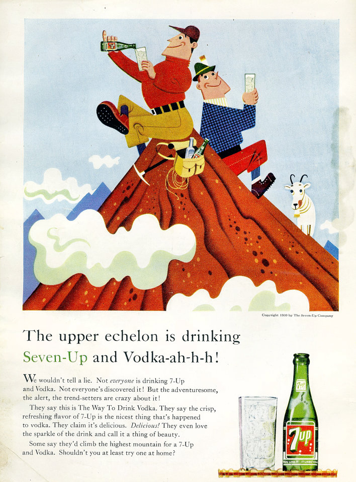 7up: Seven-Up And Vodka-ah-h-h! Vintage Ad