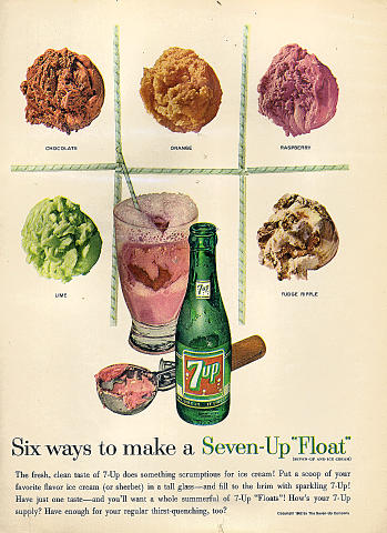 "7up: Seven-Up ""Float"" Vintage Ad"