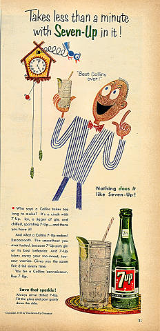 7up: Takes Less Than A Minute With 7up In It! Vintage Ad