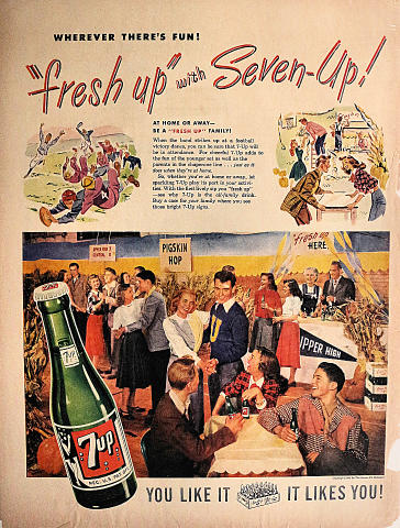7up: Wherever There's Fun! Vintage Ad