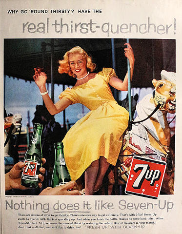 7up: Why Go 'Round Thirsty? Vintage Ad