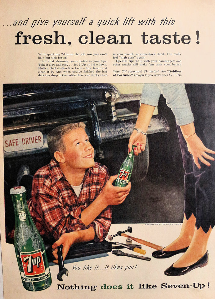 7up: You Like It...It Likes You! Vintage Ad