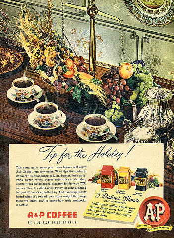 A & P Coffee Vintage Ad