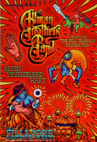 A Benefit for The Bill Graham Foundation Poster