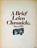A Brief Leica Chronicle Book