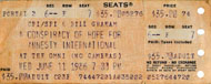 A Conspiracy Of Hope For Amnesty International Vintage Ticket
