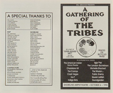 A Gathering of the Tribes Handbill