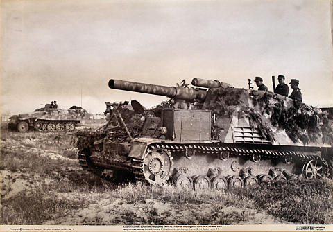 A German Hummel Self-Propelled 150mm Pzf.H Howitzer Poster