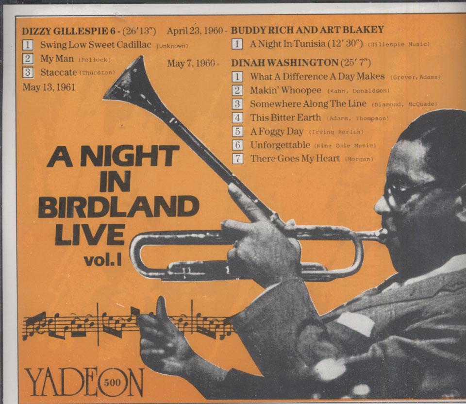 A Night in Birdland Live: Vol. 1 CD