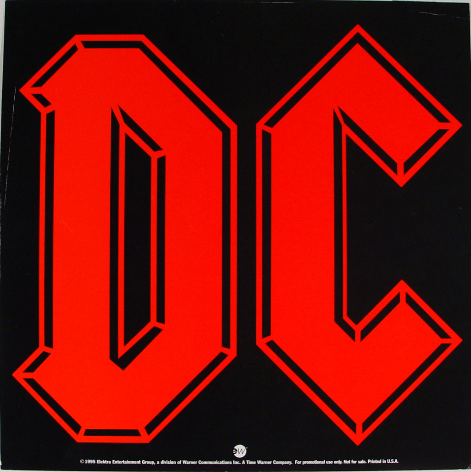 AC/DC Album Flat reverse side